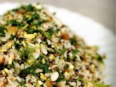 Tara O'Brady's confetti rice: Mix of brown rice, lentils and orzo is tossed with spices, currants and almonds.