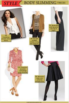 Dress To Look Thin | How To Dress 10 Pounds Thinner | Figure Flattering Style Fashion Tips ...