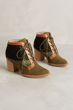 Pilcro Lace-Up Booties #anthrofave