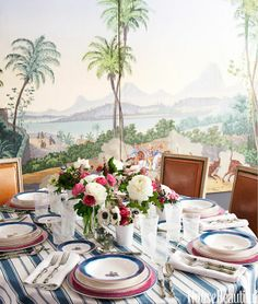 Chinoiserie Chic: Sunday Inspiration - Setting the Chinoiserie Table
