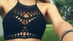 Top tejido a crochet para verano - YouTube Crochet Bra, Etsy, Bikinis, Swimwear, Outfits, Dream Catcher, Fashion, 1, Summertime