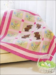 Backyard Bunnies Quilt pattern/instructions $3.69