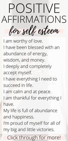 30 Daily Positive Affirmations for Self Esteem, Motivation, and Inspiration — Rebekah Joan