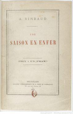 Une saison en Enfer / A. Rimbaud