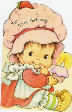 Baby Birthday Baby Birthday The post Baby Birthday appeared first on Ladybug. Strawberry Shortcake Cartoon, Strawberry Shortcake Birthday, Sarah Kay, Vintage Birthday Cards, Vintage Greeting Cards, Cute Cartoon Pictures, Barbie Birthday, Holly Hobbie, Cute Illustration