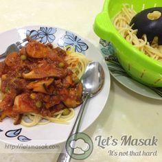 Resipi / resepi / recipe Spaghetti Bolognese Simple