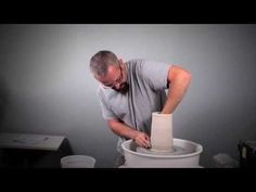 Tips for Throwing a Perfect Tall Cylinder - Ceramic Arts Daily Ceramic Tools, Ceramic Clay, Ceramic Artists, Ceramic Pottery, Pottery Art, Ceramic Techniques, Pottery Techniques, Ceramic Arts Daily, Pottery Lessons