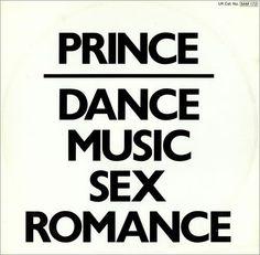 Prince, Dance Music Sex Romance, UK, Promo