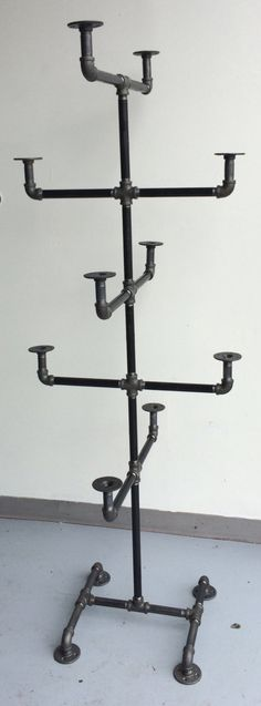Vintage Style Hat Rack - Hat Storage - Industrial Pipe Hat Rack - Hat Display - Hat Stand - Holds 10 Hats