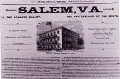 """Salem: """"The Switzerland of the South"""""""