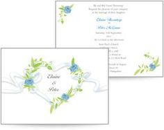 Floral heart design featuring blue and green detail