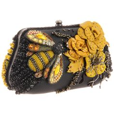 All Abuzz Clutch,Multi,One Size Mary Frances Mary Frances Purses, Mary Frances Handbags, Beaded Purses, Beaded Bags, I Love Bees, Bee Art, Save The Bees, Bees Knees, Vintage Purses