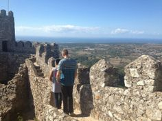 Brian walking the ruins in Portugal