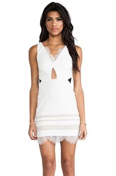 Three Floor White Isle Dress in White & Black from REVOLVEclothing
