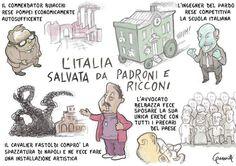 """L'Italia Riparte! (vignetta per """"il Misfatto"""", dic. 2010)"""