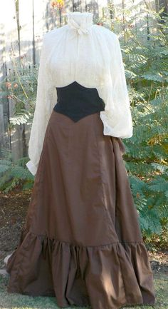 Victorian Bustle Skirt Steampunk Costume with by ItsNotPajamas, $107.00