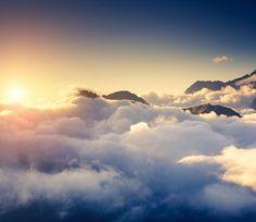 3D Dichte Wolke Cloud Fototapeten Wandbild Fototapete Bild Tapete Familie Kinder…