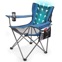 Cool Breeze Lawn Chair is lightweight and portable to provide hours of cooling comfort anywhere you go. The soothing breeze cools targeted hot-spots on the body as you sit and relax on the heavy duty mesh netting. Air travels across the back and pours over the head, shoulders and neck. Carrying bag is included to bring along on any vacation, tailgating event or camping trip. Convenient power switch to conserve battery life while stored away. Chair can hold up to 300 lbs. Operates up to 10…