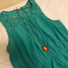 Tealish dress Worn once. Brand new condition. Elastic waist as pictured. one clothing Dresses Mini