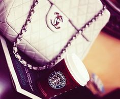 chanel, fashion, girly, starbucks - inspiring picture on Favim.com na LOVEit.pl / #221848