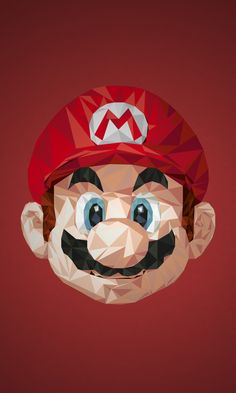 Illustrations Of Superheroes Video Game Characters Made Of Triangular Shapes - Illustration Mario Super Mario Bros, Video Game Art, Video Games, Deco Gamer, Apple Store, Triangle Art, Nerd, Mario And Luigi, Gaming Wallpapers