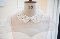 A little detachable peter pan collar with pearls and crystals....just a little something we found in Paris!  Contact enquiries@rebeccadownes.co.uk for details!