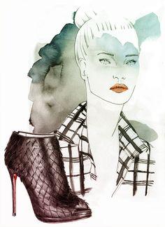 Shoes Illustration by Laurene STEIN, via Behance