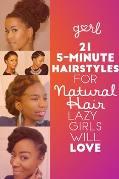 21 Five Minute Hairstyles For Natural Hair That Lazy Girls Will Love - Looking for Hair Extensions to refresh your hair look instantly? focus on offering premium quality remy clip in hair. Natural Hair Inspiration, Natural Hair Tips, Natural Hair Journey, Natural Hair Styles, Going Natural, Natural Girls, Natural Beauty, Five Minute Hairstyles, Lazy Hairstyles