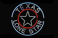 Texas Lone Star Circle Neon Sign