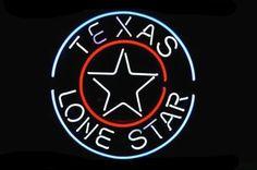 Texas Lone Star Circle Neon Sign