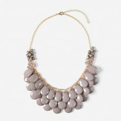 Taupe Waterfall Necklace | Urban Peach Boutique