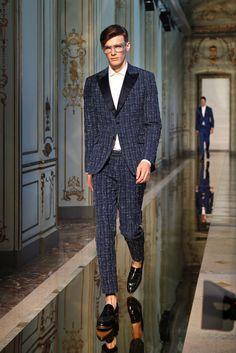 Ports 1961 Spring 2014 Menswear #tweed #tuxedo