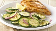 Zuccini salad. Also a nice website for  cooking ideas