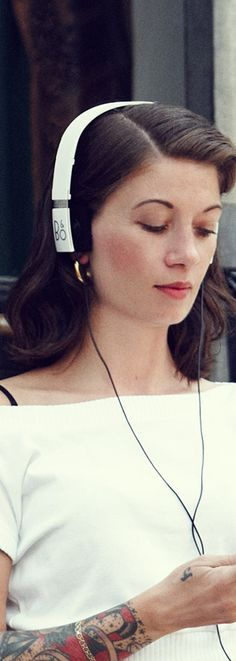 Explore Bang and Olufsen over-ear and on-ear Beoplay headphones, Beosound multiroom speakers, Beolab floorstanding speakers, and Beoplay Bluetooth speakers and high-end Beovision televisions. High End Headphones, Bang And Olufsen, Bluetooth Speakers, Bangs, Ear, Street Style, People, Photography, Design