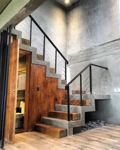 54 home interior design ideas with beautiful stairs 28 Home Stairs Design, Interior Stairs, Loft Design, Home Room Design, Modern House Design, Home Interior Design, Loft Interior, Stairs Architecture, Architecture Design