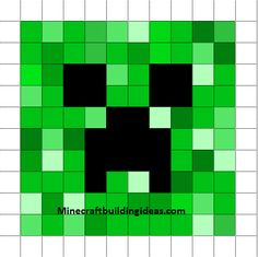 Minecraft Pixel Art Templates: Creeper