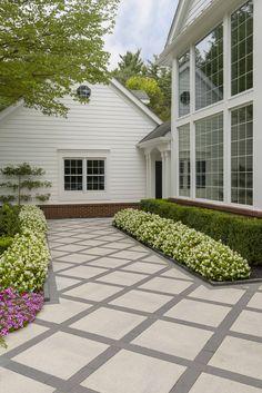 Backyard Landscaping This backyard patio idea is inspired by our Industria Smooth slab. Patio Slabs, Patio Tiles, Outdoor Tiles, Concrete Patio, Patio Stone, Flagstone Patio, Deck Patio, Garden Tiles, Privacy Landscaping