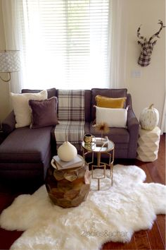 Nothing says cozy fall more than plaid! We 2 Ladies are having fun with plaid this year in our decorating! We are adding an unexpected pop of whimsy to this traditional decor Fall Apartment Decor, Studio Apartment Decorating, Apartment Living, Farmhouse Style Decorating, Decorating Your Home, Fall Plaid, Pillow Texture, Cool Apartments, Traditional Decor