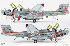 1/48 KINETIC US.NAVY EA-6B PROWLER-1 : 네이버 블로그
