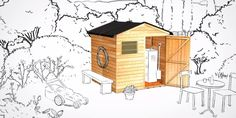 Blooma Garden Shed - Easy and quick assembly -  Vittis by Kingfisher Sourcing & Offer Product Design, via Behance
