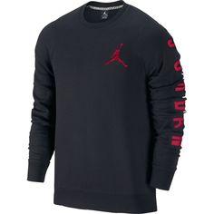 Nike Air Jordan Black Classic Fleece Crewneck Mens Sweatshirt 3xl XXXL    eBay e4bf6b768c5