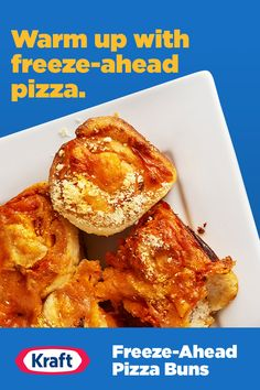 As a simple holiday appetizer or a between-meal snack for chilly days, these cheesy make-ahead pizza buns are a quick and easy way to bring out the smiles from the family and guests alike. Egg Recipes, Pizza Recipes, Appetizer Recipes, Dessert Recipes, Cooking Recipes, Pepper Recipes, Parmesan Recipes, Frittata Recipes, Carrot Recipes
