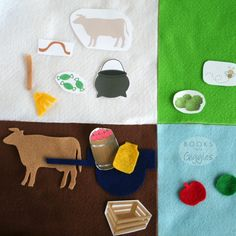 """Free printable template to make a kids storytelling basket for the story """"Ox-Cart Man."""" Could also be used on a felt board. Five In A Row, Felt Stories, Kindergarten Books, School Libraries, Flannel Boards, Finger Plays, Harvest Time, Circle Time, Flannels"""