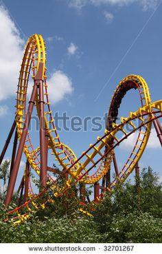 stock photo : Roller coaster ride
