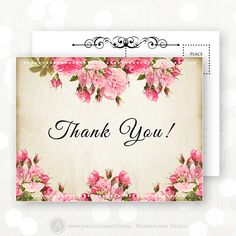 Printable Thank You Card INSTANT DOWNLOAD Retro by AmeliyCom ...