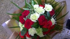 A selection or red and green blooms