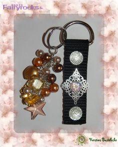 #Schwarz #Textilkord #Stern #Schmuckelement #Glassteine #Perlen #Gold