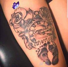 Baby Name Tattoos, Quote Tattoos Girls, Tattoos With Kids Names, Mom Tattoos, Sleeve Tattoos, Family Tattoos, Tattoo Kids, Tattoo For Son, Tattoos For Daughters