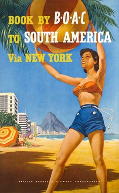 Book by B.O.A.C. to South America Via New York by Hayes / 1958