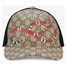 55ec6016b36d2 GUCCI Rap Baseball Cap With Snake And Gg Logo Detailing ❤ liked on Polyvore  featuring accessories